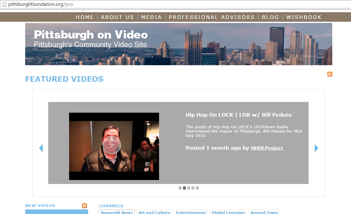 Screenshot of Pittsburgh on Video